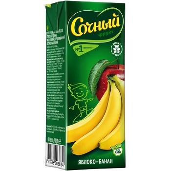 Нектар Сочный фрукт Яблоко-Банан для детского питания 0,2л
