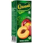 Нектар Сочный фрукт Яблоко-Персик с мякотью для детского питания 0,2л