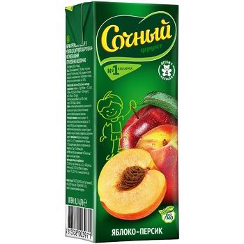 Нектар Сочный фрукт Яблоко-Персик с мякотью для детского питания 0,2л - купить, цены на СитиМаркет - фото 1