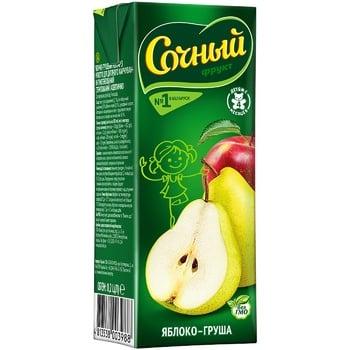 Sochnyj Apple Pear Nectar 0.2l - buy, prices for CityMarket - photo 1