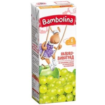 Сік Bambolina Яблуко-виноград 200мл - купити, ціни на CітіМаркет - фото 1