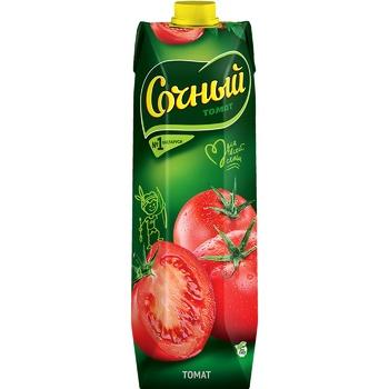 Сок Сочный Томат с мякотью с солью 1л - купить, цены на Varus - фото 1