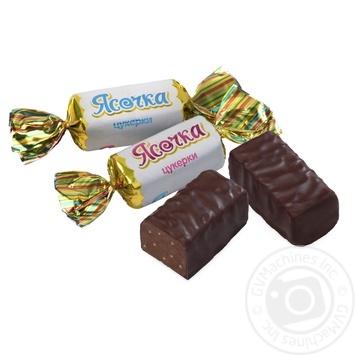 Цукерки ХБФ Бісквіт-Шоколад Ясочка глазуровані з начинкою праліне вагові