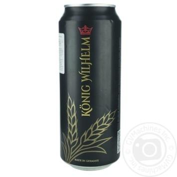 Пиво Konig Wilhelm Dark темное фильтрованное 5% 0,5л - купить, цены на Ашан - фото 1