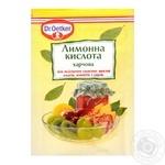 Кислота лимонная Др.Оеткер пищевая 8г - купить, цены на Метро - фото 1