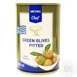 Оливки зелені METRO Chef без кісточки 425мл