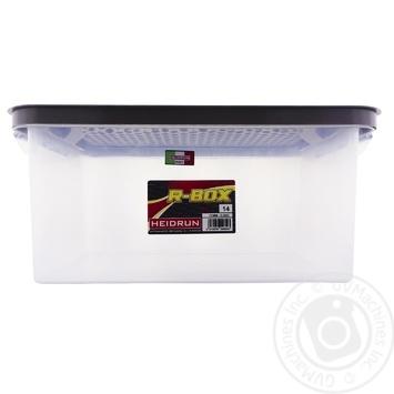 Ящик Heidrun пластиковый с крышкой под кровать 14л 40x29x18см