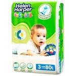 Подгузники Helen Harper Soft&Dry Midi 3 4-9кг 80шт