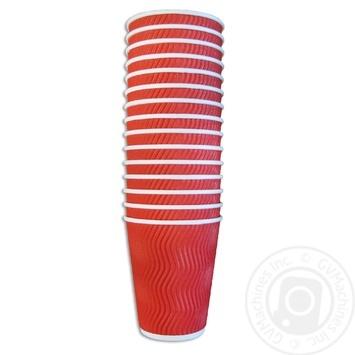 Alfa Pak corrugated glass mix 400ml 15pcs - buy, prices for Metro - image 1