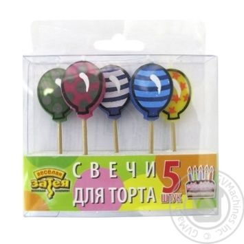 Vesela vytivka Candles for Cake 5pcs in assortment - buy, prices for Auchan - photo 1