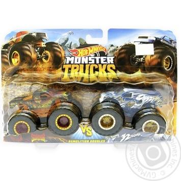 Hot Wheels Monster Trucks 2 demolition toy cars - buy, prices for Novus - image 1