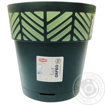 Горщик OPERA Orfeo 20 x 19 cm темнозелений св.зелений арт. 94502 - купить, цены на МегаМаркет - фото 1