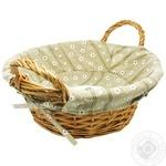 Кошик плетений для хліба з ручками овальний 31х24x14 см лоза текстиль ZELLER