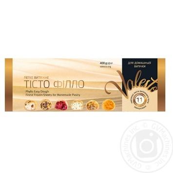 Тесто Valesto Филло вытяжное для домашней выпечки замороженное 30*40см 400г - купить, цены на Восторг - фото 1