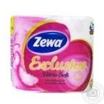 Toilet paper Zewa Ultra soft white 4pcs