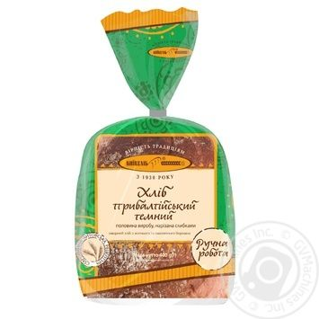 Kyivhlib Baltic dark half cutted bread 400g - buy, prices for Auchan - image 1