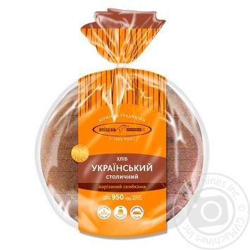 Хлеб Киевхлеб Украинский Столичный нарезанный 950г - купить, цены на Ашан - фото 2