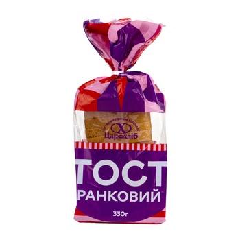 Хліб Цар Хліб Тост ранковий нарізаний скибами в упаковці 330г