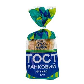 Хлеб Царь Хлеб Тост Утренний Фитнес нарезанный ломтиками в упаковке 330г