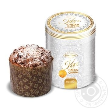 KyivHlib Without Yeast Cottage Cheese Easter Cake 500g In Box