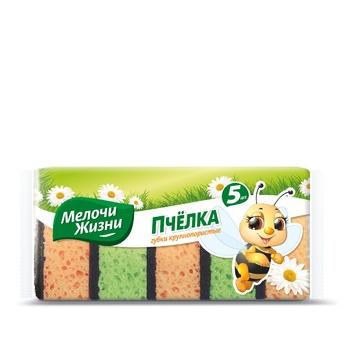 Губки кухонные Мелочи Жизни Пчелки крупнопористые 5шт - купить, цены на Фуршет - фото 1