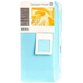 Простыня Tarrington House на резинке синяя 160Х200см