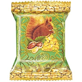 Конфеты Лесная сказка Волшебный бельчонок с арахисом вафельные глазированные кондитерской глазурью