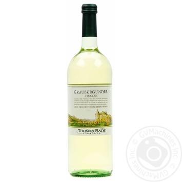 Вино Thomas Rath Grauburgunder trocken белое полусухое 12% 1л