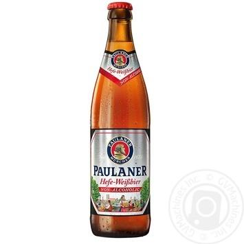 Пиво Paulaner нефильтрованное безалкогольное 0,5л