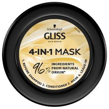 Маска 4-в-1 Gliss Kur Performance Treat Питание для поврежденных ослабленных волос 400мл - купить, цены на Ашан - фото 5