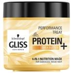 Маска 4-в-1 Gliss Kur Performance Treat Живлення для пошкодженого ослабленого волосся 400мл