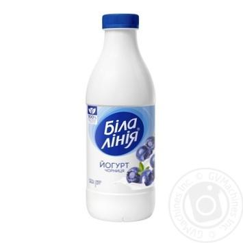 Yogurt Bila liniya with blueberries chilled 1.5% 900g - buy, prices for Novus - image 1