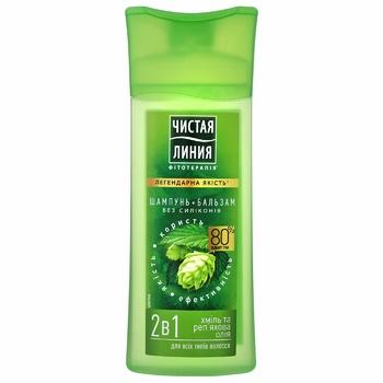 Шампунь-бальзам Чистая линия Хміль і реп'яхова олія для всіх типів волосся  2в1 250мл - купити, ціни на Novus - фото 2