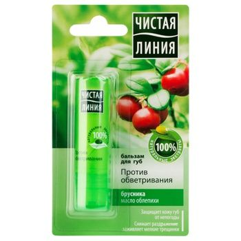 Balsam Chistaya liniya with lingonberry for lips 4g - buy, prices for MegaMarket - image 3