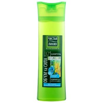 Chistaya Liniya Volume And Power For Hair Shampoo 400ml - buy, prices for EKO Market - photo 1