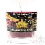 Свеча Pragnis в стакане вишневый пирог 79х83мм