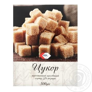Сахар АТА тростниковый коричневый прессованный 500г - купить, цены на МегаМаркет - фото 1