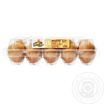Яйця курячі Від доброї курки Кошик Життя С0 15шт - купити, ціни на Novus - фото 3