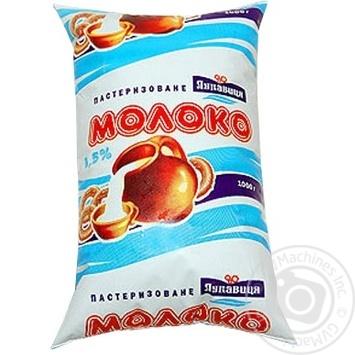 Pasteurized milk Lukavitsa 1.5% 1000ml sachet Ukraine
