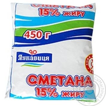 Сметана Лукавица 15% 450г пленка Украина - купить, цены на Фуршет - фото 1