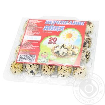 Яйцо перепелиное Агрокомплекс Феникс 20шт - купить, цены на Novus - фото 1