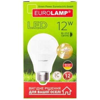 Лампа светодиодная Eurolamp LED А60 12W E27 4000K