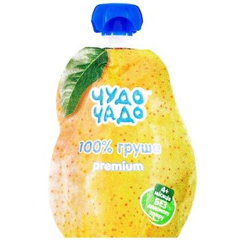 Пюре для детей Чудо Чадо Груша без сахара 90г - купить, цены на Метро - фото 1