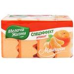 Melochi zhizni Special Effect Kitchen Sponge with mandarin flavor 4pcs