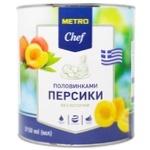 Персики METRO Chef половинками в сиропе 3,15л