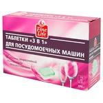 Таблетки для посудомоечной машины Fine Life 3в1 32штХ18г