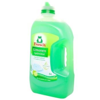 Средство для мытья посуды Frosch Зеленый лимон 5л - купить, цены на Varus - фото 1