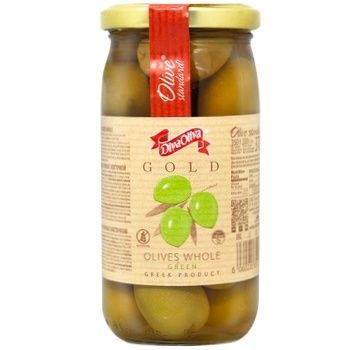 Оливки DivaOliva зеленые с косточкой 370мл - купить, цены на ЕКО Маркет - фото 1