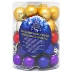 Набор ёлочных шаров 50шт