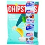 Чипсы Flint Chipster's картофельные со вкусом сметаны с зеленью 130г - купить, цены на Фуршет - фото 1